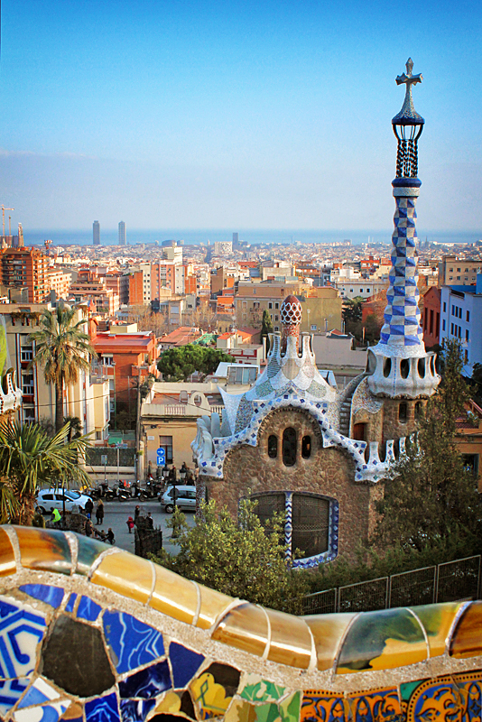 A view of Barcelona, Spain from Parc Guell. Image Credit: Travel Photographers Magazine
