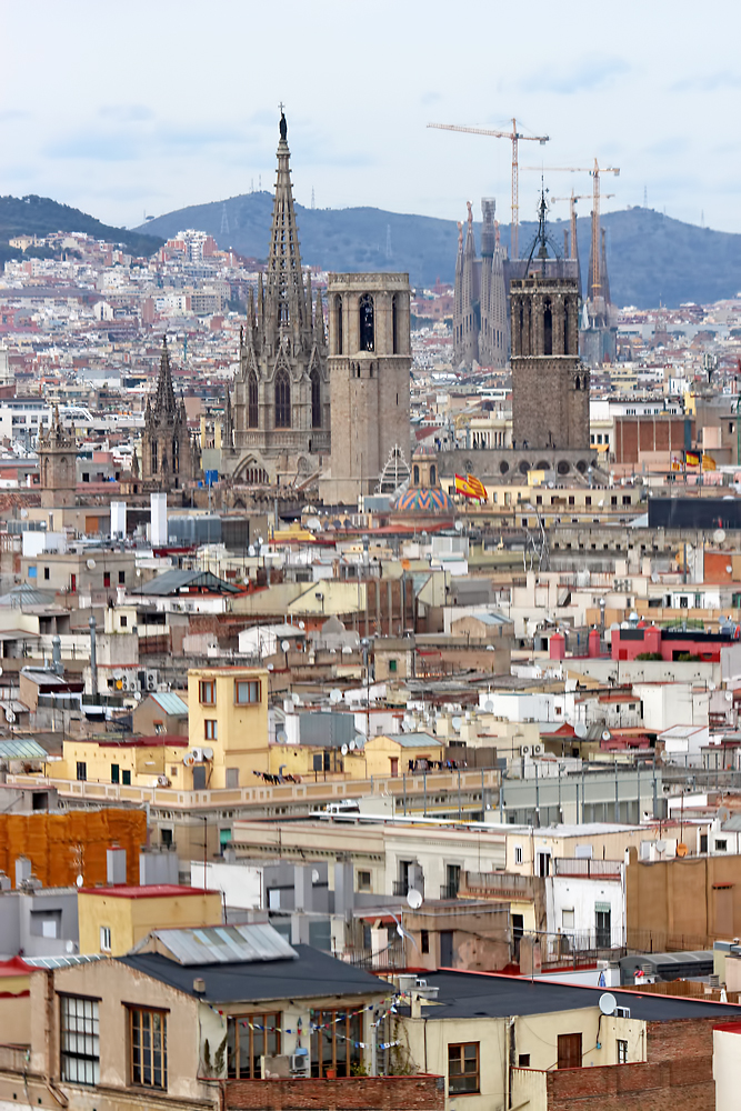 A rare view of Barcelona Cathedral above the rooftops of Barcelona. Image Credit: Travel Photographers Magazine