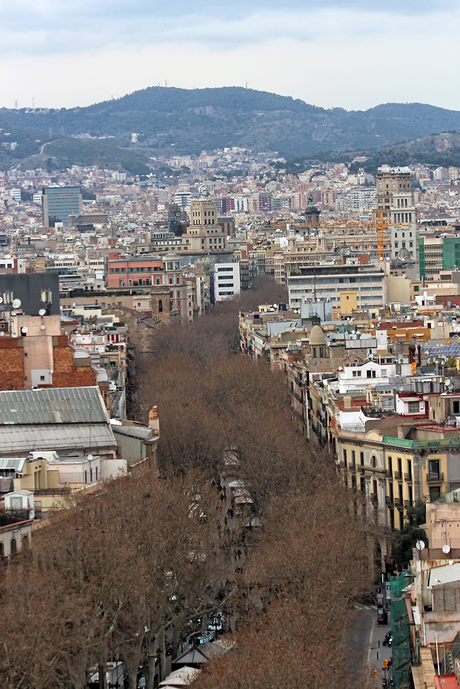 La Rambla from the Christopher Columbus Monument. Image Credit: Travel Photographers Magazine